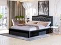 ŁÓŻKO TAPICEROWANE DO SYPIALNI 160X200 SF100 CZARNY WELUR + KRYSZTAŁKI Kategoria Łóżka do sypialni Rozmiar materaca 160x200 cm