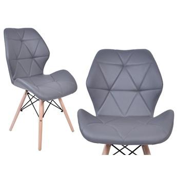 Krzesło ekoskóra K-RENNES grafitowe
