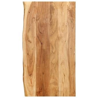 VidaXL Blat łazienkowy, lite drewno akacjowe, 100 x 55 x 2,5 cm
