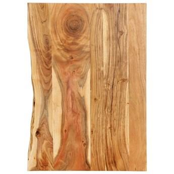 VidaXL Blat łazienkowy, lite drewno akacjowe, 80 x 55 x 2,5 cm