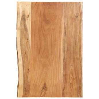 VidaXL Blat łazienkowy, lite drewno akacjowe, 80 x 55 x 3,8 cm