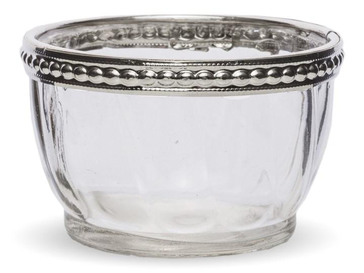 Szklany świecznik Boms 7x4,5 cm Kolor Szary Podgrzewacz Świeca Kategoria Świeczniki i świece