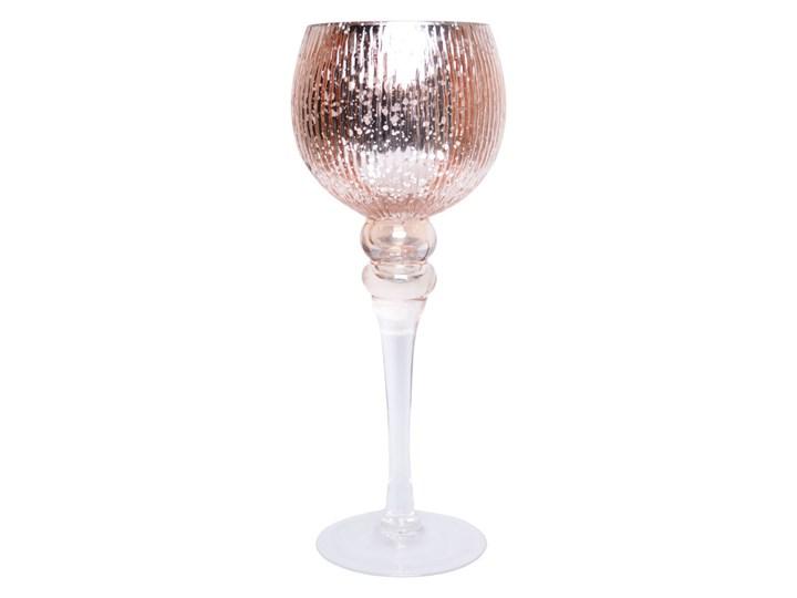 Różowy świecznik - kielich na nóżce Rosea 30 cm Kolor Biały Świeca Podgrzewacz Kategoria Świeczniki i świece