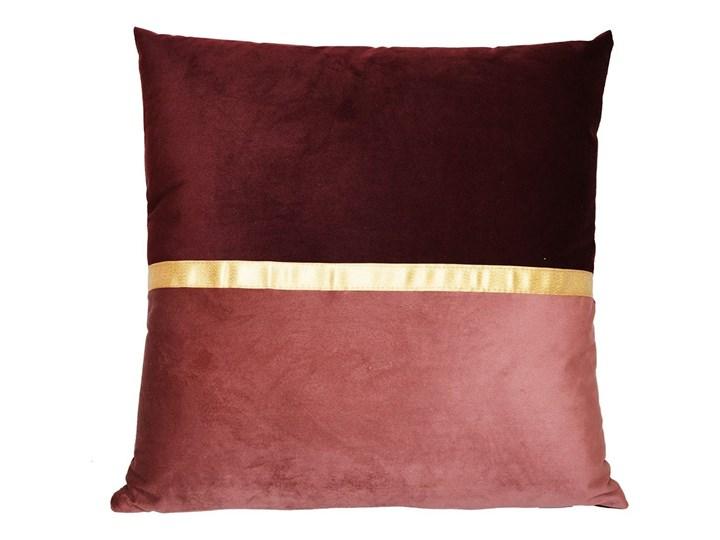 Czerwona, elegancka poduszka Spli 45x45 cm Pomieszczenie Salon Poduszka dekoracyjna Welur Wzór W paski