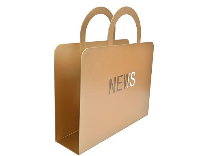 Złoty, metalowy gazetnik News Kolor Beżowy Kategoria Gazetniki