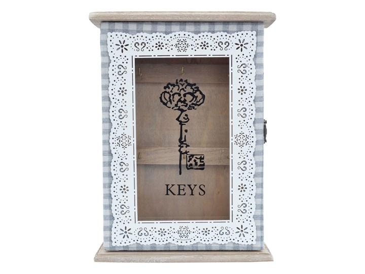 Skrzynka na klucze Tivoli Szafka na klucze Drewno Wieszak na klucze Kolor Szary Kategoria Szafki i wieszaki na klucze