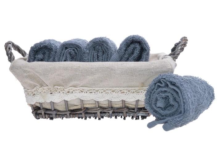 Komplet ręczników w koszyku Beja 5 szt. Kolor Szary Bawełna Ręcznik do rąk Dziecięce 30x30 cm Kategoria Ręczniki