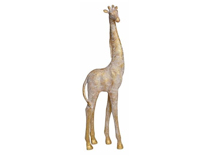 Rzeźba — złota żyrafa Ferom 44 cm Zwierzęta Tworzywo sztuczne Kolor Beżowy Kategoria Figury i rzeźby