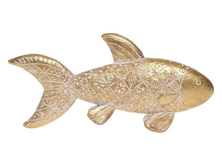 Złota ryba rzeźba pozłacana Hin 23 cm Tworzywo sztuczne Ryby Zwierzęta Kolor Beżowy