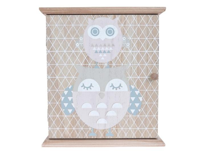 Skrzynka na klucze Owls Kolor Szary Wieszak na klucze Drewno Kategoria Szafki i wieszaki na klucze