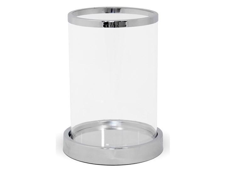 Srebrny świecznik Lar 20 cm Podgrzewacz Kolor Szary Kategoria Świeczniki i świece