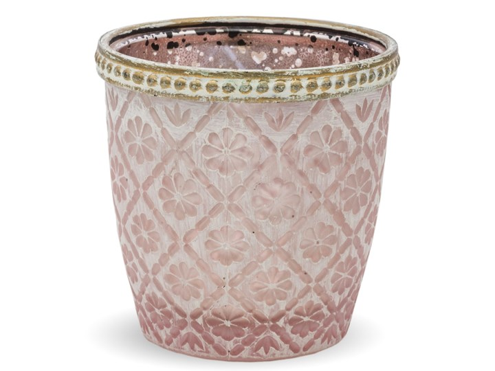 Świecznik różowy Gomsa Kolor Beżowy Podgrzewacz Świeca Kategoria Świeczniki i świece