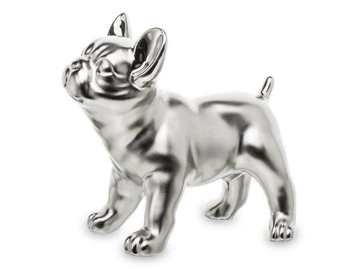 Srebrny, buldog francuski Feimso 16 cm Kolor Szary Ceramika Kategoria Figury i rzeźby