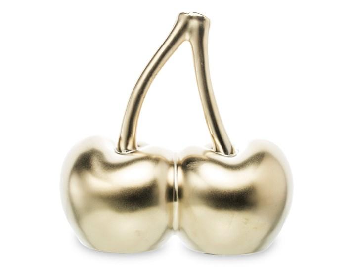 Figurka, złote wiśnie Ferom 16 cm Owoce Ceramika Kategoria Figury i rzeźby Kolor Beżowy