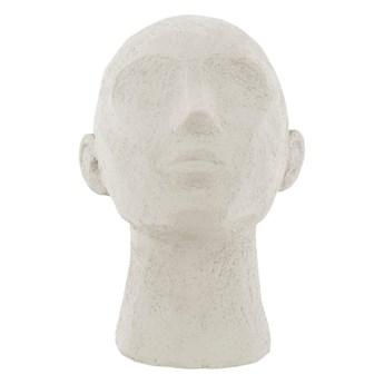 Figurka dekoracyjna w kolorze kości słoniowej PT LIVING Face Art, wys. 22,8 cm
