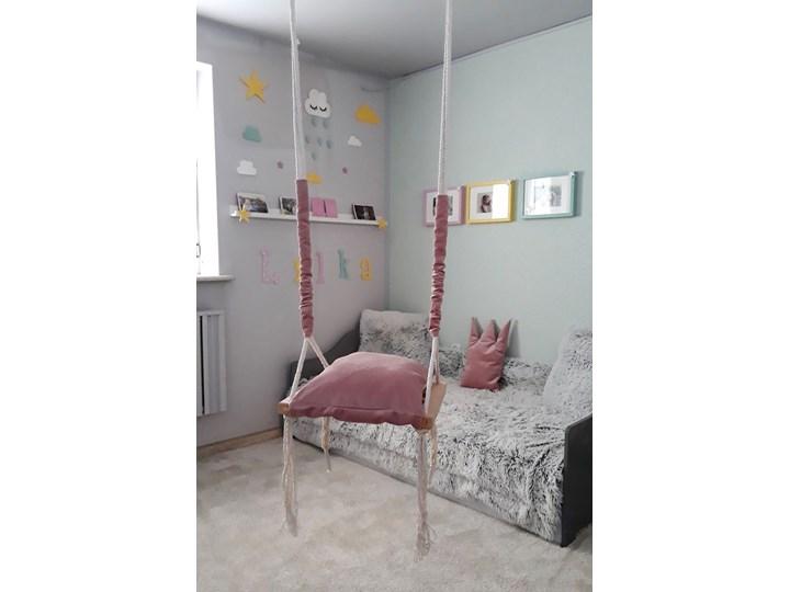 Różowa huśtawka dla dziewczynki - Naomi 3w1 Kubełkowa Kategoria Huśtawki dla dzieci