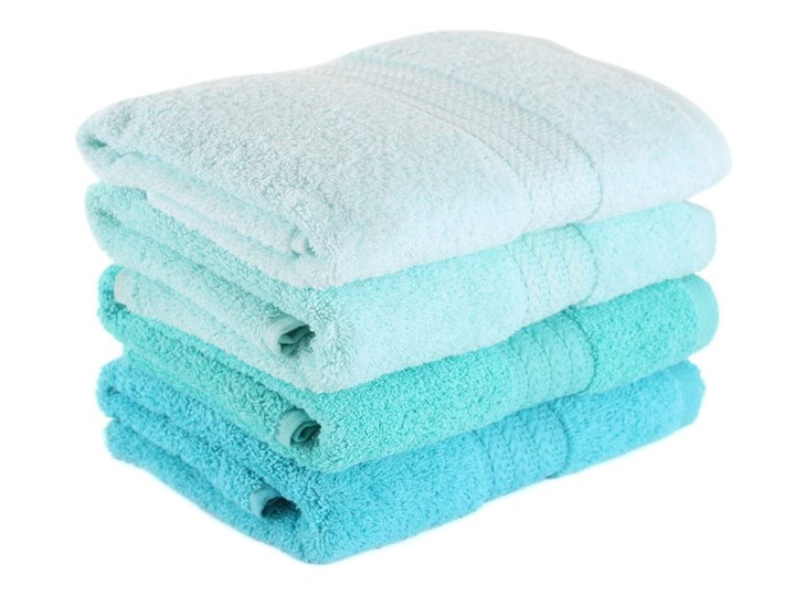 Zestaw 4 turkusowych ręczników Tropical, 50x90 cm Młodzieżowe Bawełna Komplet ręczników Łazienkowe Kategoria Ręczniki