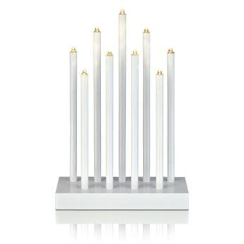 Biały świecznik LED Markslöjd Viik, wys. 27 cm