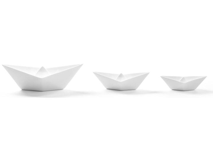 Figurki dekoracyjne Memorabilia My Boats (3-set) białe Ceramika Kategoria Figury i rzeźby