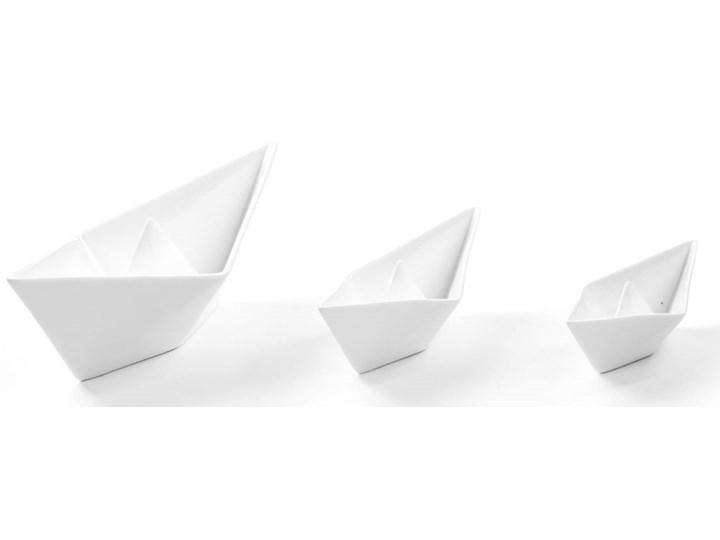 Figurki dekoracyjne Memorabilia My Boats (3-set) białe Kategoria Figury i rzeźby Ceramika Kolor Biały