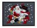 Wycieraczka z bożonarodzeniowym motywem | bonprix Tworzywo sztuczne Kolor Szary
