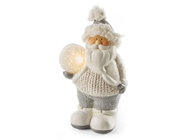 Święty Mikołaj z kulą LED | bonprix Mikołaje Kolor Beżowy