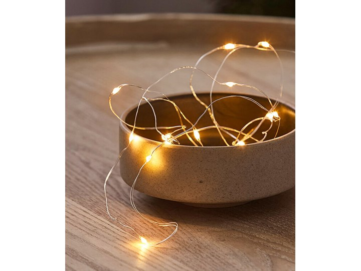 Łańcuch z mikrolampkami LED | bonprix Kolor Brązowy