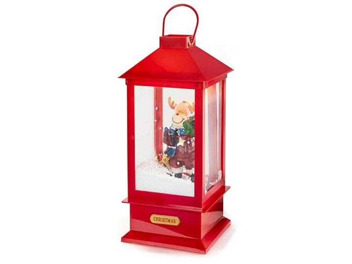 Lampion LED z płatkami śniegu   bonprix Kolor Czerwony
