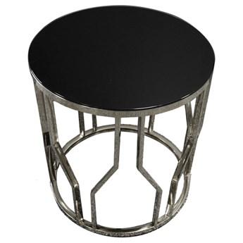 Designerski srebrny stolik 50 x 53 cm D10outlet