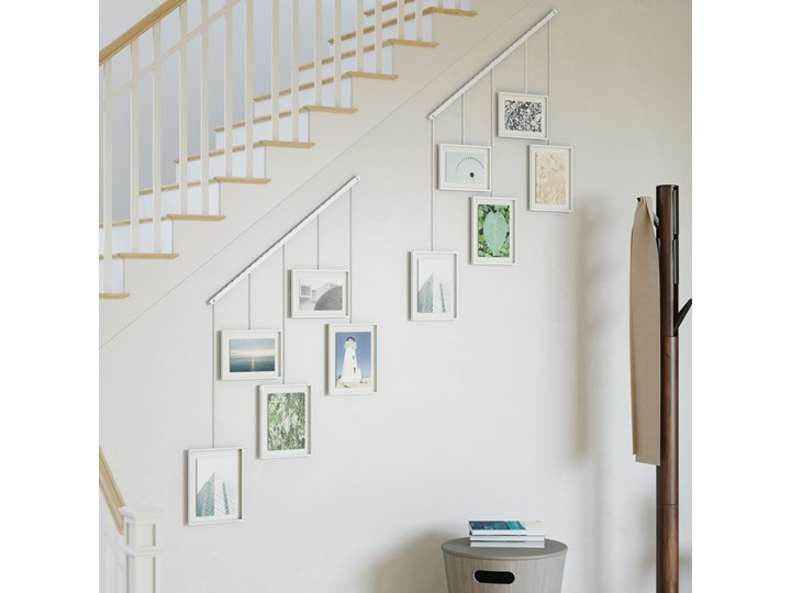 Ramka na zdjęcia Exhibit 70x66 cm biała Pomieszczenie Sypialnia Multiramka Kolor Biały