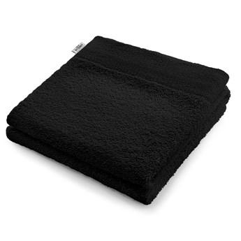 AmeliaHome - Ręcznik kąpielowy Bawełniany Gładki Czarny AMARI - 50x100 cm