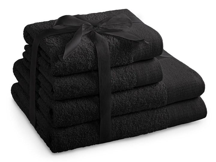 AmeliaHome - Ręcznik kąpielowy Bawełniany Gładki Czarny AMARI - 2*70x140+ 2*50x100