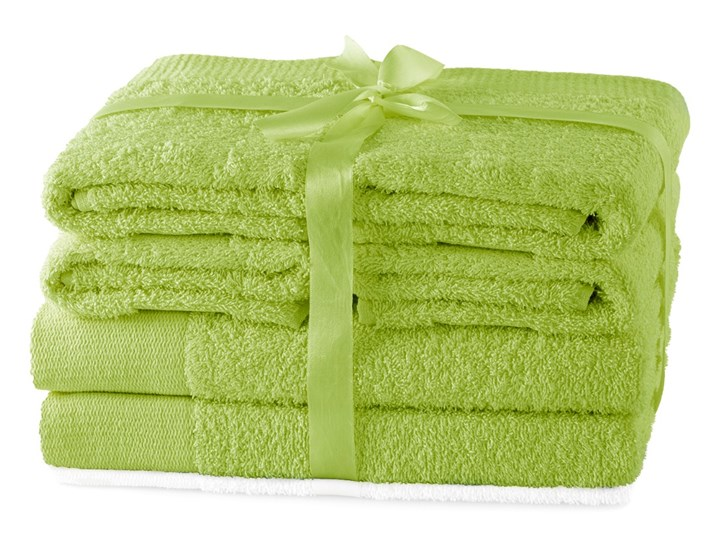 AmeliaHome - Ręcznik kąpielowy Bawełniany Gładki Jasnozielony AMARI - 2*70x140+ 4*50x100