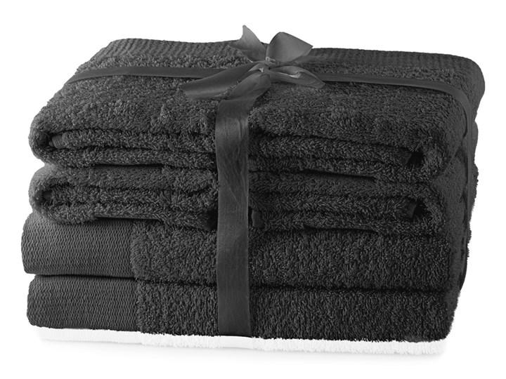 AmeliaHome - Ręcznik kąpielowy Bawełniany Gładki Grafitowy AMARI - 2*70x140+ 4*50x100