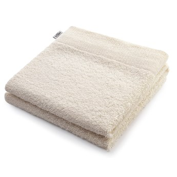 AmeliaHome - Ręcznik kąpielowy Bawełniany Gładki Ecru AMARI - 70x140 cm
