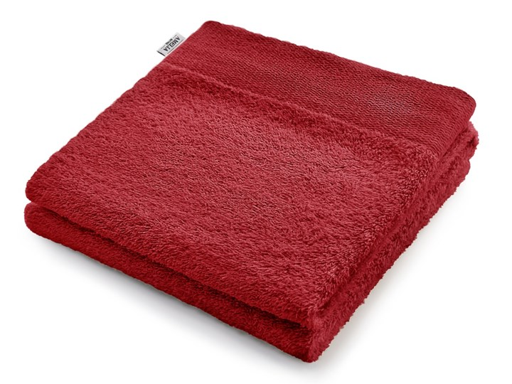 AmeliaHome - Ręcznik kąpielowy Bawełniany Gładki Ciemnoczerwony AMARI - 30x50 cm