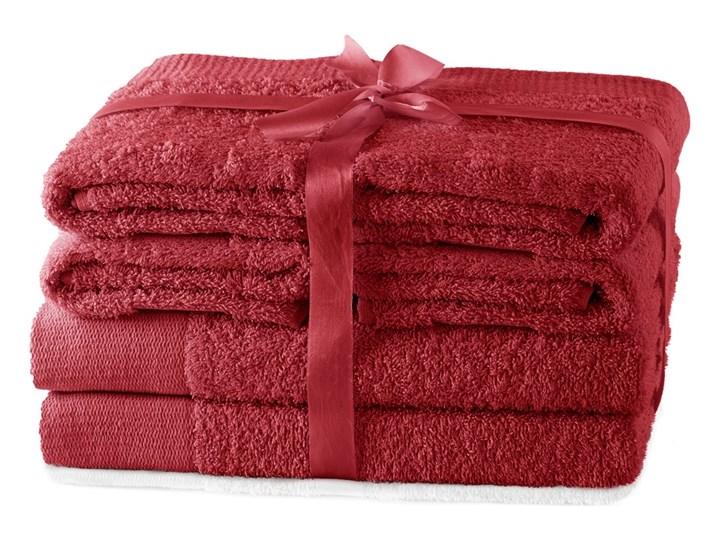 AmeliaHome - Ręcznik kąpielowy Bawełniany Gładki Ciemnoczerwony AMARI - 2*70x140+ 4*50x100