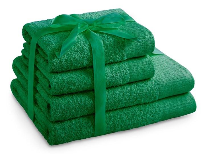 AmeliaHome - Ręcznik kąpielowy Bawełniany Gładki Zielony AMARI - 2*70x140+ 2*50x100