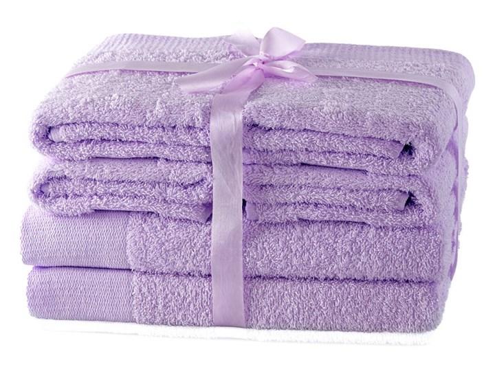 AmeliaHome - Ręcznik kąpielowy Bawełniany Gładki Liliowy AMARI - 2*70x140+ 4*50x100 - 2*70x140+ 4*50x100
