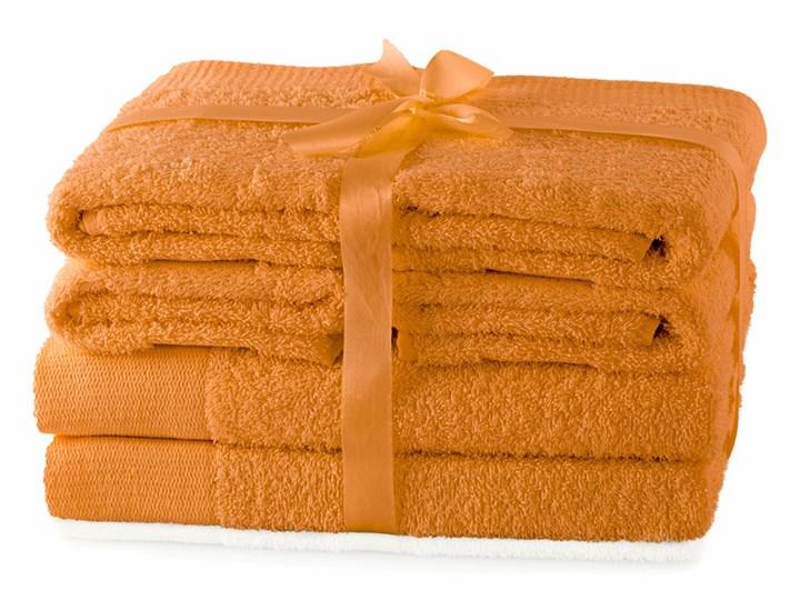 AmeliaHome - Ręcznik kąpielowy Bawełniany Gładki Pomarańczowy AMARI - 2*70x140+ 4*50x100