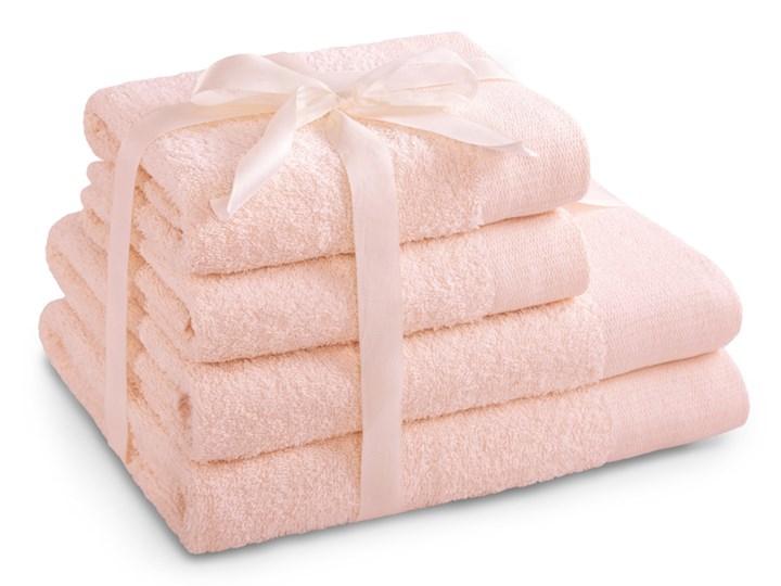 AmeliaHome - Ręcznik kąpielowy Bawełniany Gładki Pudrowy Róż AMARI - 2*70x140+ 2*50x100