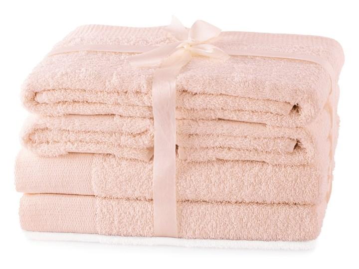 AmeliaHome - Ręcznik kąpielowy Bawełniany Gładki Pudrowy Róż AMARI - 2*70x140+ 4*50x100