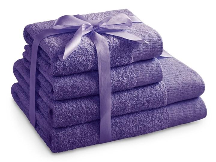AmeliaHome - Ręcznik kąpielowy Bawełniany Gładki Fioletowy AMARI - 2*70x140+ 2*50x100