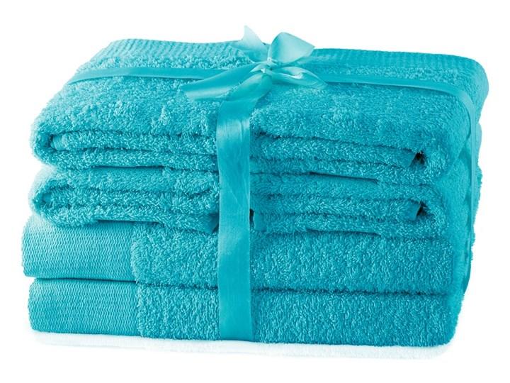 AmeliaHome - Ręcznik kąpielowy Bawełniany Gładki Turkusowy AMARI - 2*70x140+ 4*50x100