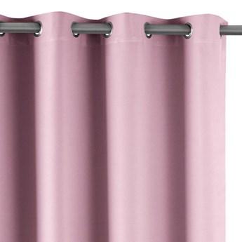 AmeliaHome - Zasłony Zaciemniające na przelotkach Różowe BLACKOUT - 140x175 cm