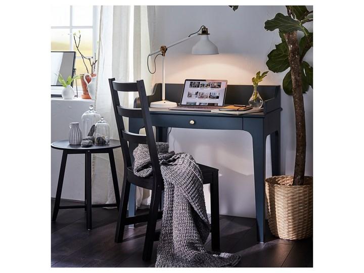 IKEA LOMMARP Biurko, Ciemnoniebieski-zielony, 90x54 cm Pomieszczenie Biuro Sekretarzyk Płyta MDF Szerokość 90 cm Drewno Sosna Kategoria Biurka