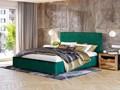 ŁÓŻKO TAPICEROWANE DO SYPIALNI 140X200 SF090 ZIELONY WELUR Kolor Szary Kategoria Łóżka do sypialni