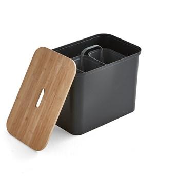 Pojemnik do segregacji SmartStore™, z siedziskiem, 76 L, czarny