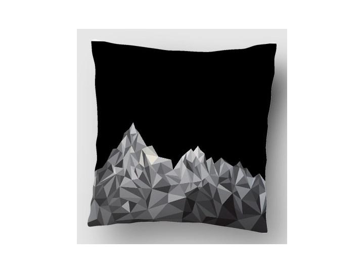 Góry Black Grey Poszewka dekoracyjna Poliester Kwadratowe 40x40 cm Dzianina Wzór Z nadrukiem