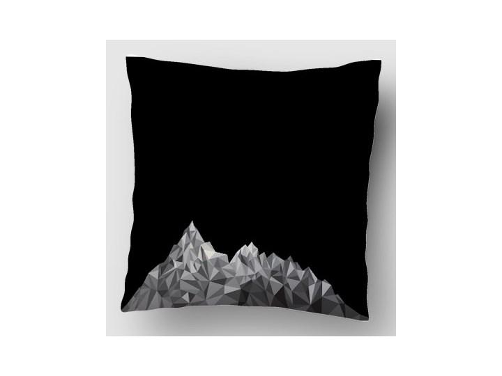 Góry Black Grey II Poszewka dekoracyjna Dzianina Poliester Kwadratowe 40x40 cm Wzór Z nadrukiem